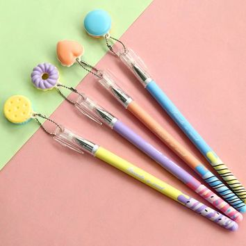 1PC/lot Kawaii Macaron Charm series Gel Pen Cute Pens for Writing for Kids Stationery Office School Supplies (ss-a729)