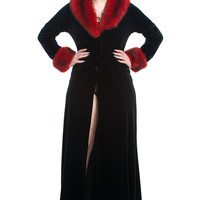 Vintage 90's Black Widow Coat - XS/S/M