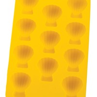 HIC Yellow Silicone Shell Shaped Ice Cube Tray and Baking Mold
