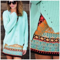 Sweetgrass Acres Mint Zipper Cardigan