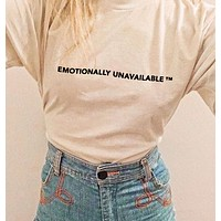 """Emotionally Unavailable"" Tee"