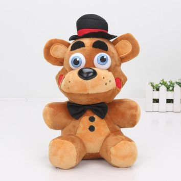 5pcs/lot 25cm Horror Vediogame  At   Limited Edition Toy Freddy Bear  Vedio game Plush Doll Toys