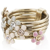 Mini Flower Stacking Ring at Accessorize