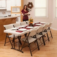 8' Strong Sturdy Portable Banquet, Conference, Utility Folding Table