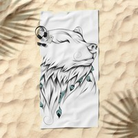 Poetic Bear Beach Towel by LouJah