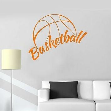 Vinyl Wall Decal Basketball Sports Fan Boy's Room Garage Stickers Unique Gift (ig2130)