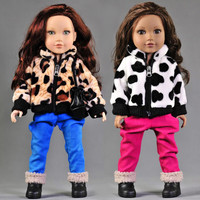 New Arrival 2pcs set Leisure Coat+Pants For American Girl Doll 18 Inch Doll Clothes And Accessories