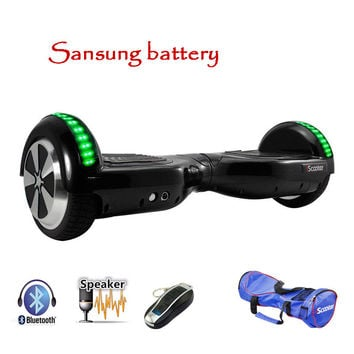 Sansung Battery  hoverboard Bluetooth Electric Skateboard steering-wheel Smart 2 wheel self Balance Standing scooter