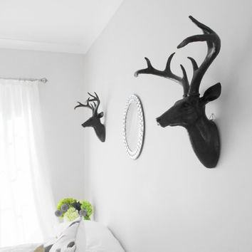 Deer Head, Black Deer Head, Faux Taxidermy, Stag Head Australia, Faux Deer Head, Hodi Home Decor, Gothic,