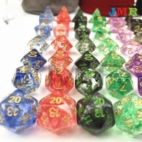 7PCS/SET Juegos De Mesa Dados,Set of D4-D20 Polyhedral Dice for Rpg Dungeon and Dragons Dice Sets,for Dice Stacking,White Dice