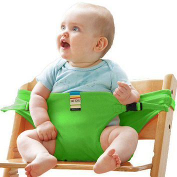 Portable Baby Safety Belt Stretch Wrap Chair Seat