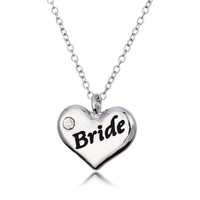 Bride Heart Pendant Necklace