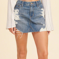 Girls High-Rise Denim Skirt | Girls New Arrivals | HollisterCo.com