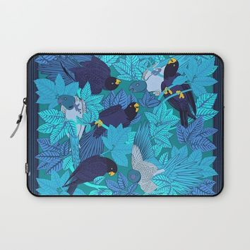 Tropical Art - Plants - Birds - Parrots Laptop Sleeve by Salome
