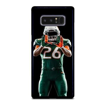 UM MIAMI HURRICANES FOOTBALL Samsung Galaxy Note 8 Case Cover