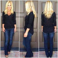 Dark Horse Wrap Rayon Top