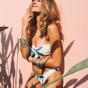 Tropical Bandeau Bikini Set - Lola Palm Green