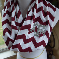 Texas A&M chevron knit infinity scarf