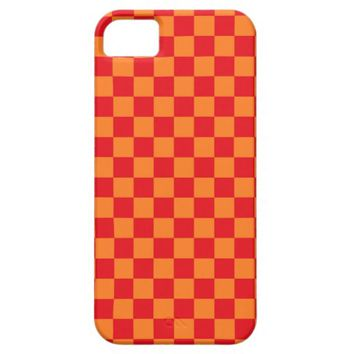 Checkered Red and Orange iPhone 5 Case