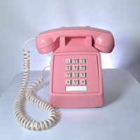 Vintage ITT Pink Desk Phone