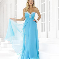 SALE! Blush 2013 Prom Dresses Aqua Chiffon Rhinestone Strapless Sweetheart Prom Dress - Unique Vintage - Prom dresses, retro dresses, retro swimsuits.