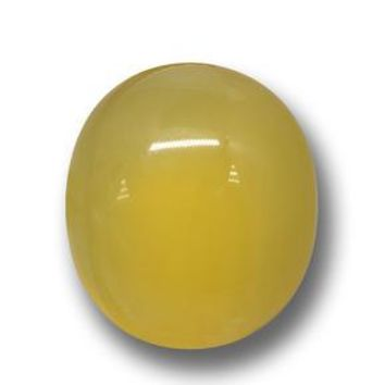 5.84 ct  Oval Cabochon Yellow Agate 13.1 x 11.6 mm
