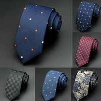 Business Fashion Dot Print Slim Neckties