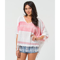 Billabong Women's Next Trip Poncho Top White Cap