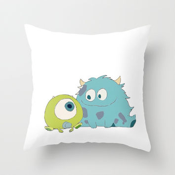 Sulley and Mike Throw Pillow by hayimfabulous