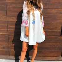 Sweeten Up Dress: White/Multi