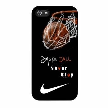 Nike Basketball Never Stop iPhone 5/5s Case