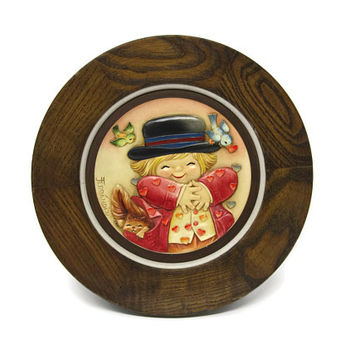 Anri All Hearts Ferrandiz Mother's Day Plate, Made in Italy, Limited Edition Juan Ferrandiz