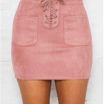 Ophelia Skirt (Khaki, Pink, Yellow)