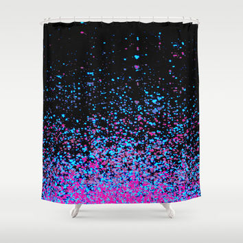 infinity in blue and purple Shower Curtain by Marianna Tankelevich | Society6