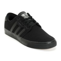 adidas Seeley All Black Canvas Skate Shoes