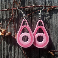 Pink Earrings Eco Friendly Jewelry Paper Earrings - paper quilling earrings, paper jewelry, dangle earrings, pink dangle earrings, for her