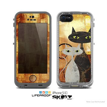 The Range Grungy Textured Cat Skin for the Apple iPhone 5c LifeProof Case