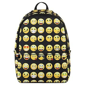 Hynes Eagle Emoji Kids Backpack (Black)