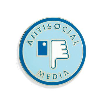 Anti-Social Media Enamel Pin