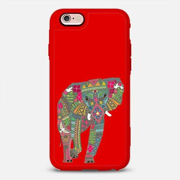 painted elephant red iPhone 6s case by Sharon Turner | Casetify