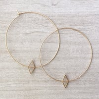 Dainty Gold Hoop Earrings | Geometric Earrings | Geometric Hoop Earrings | Gold Hoops | Simple Hoops Gold | Minimal Hoop Earrings | LANIE