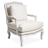 Harper Bergère, White, Accent & Occasional Chairs