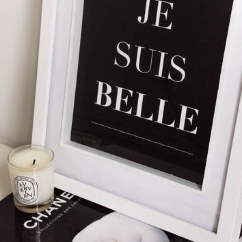 PRINTABLE Quote art // french quote, black and white print, wall art, quote poster, french print,