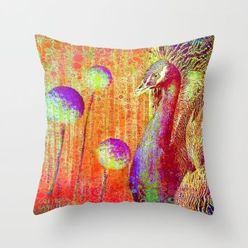 :: Peacock Parade ::  by GaleStorm and Ganech Joe Throw Pillow by :: GaleStorm Artworks ::