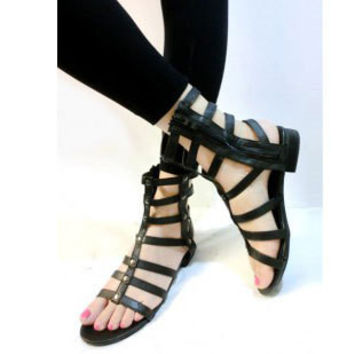 Female Flat Boots Shoes Roman Sandals = 5825086721
