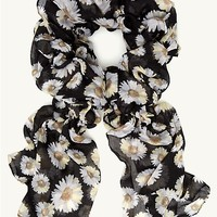 Daisies Ruched Scarf