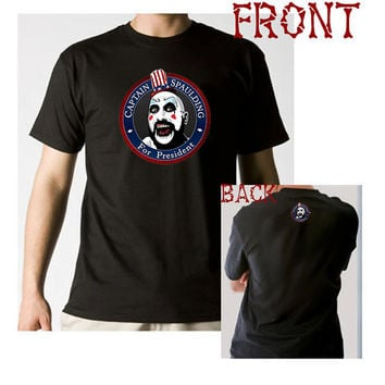Captain Spaulding for President T-shirt House of 1000 Corpses Rob Zombie Humor Parody Tee