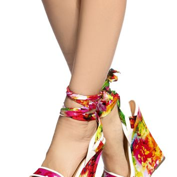 White Faux Leather Floral Print Wrap Around Wedges @ Cicihot Wedges Shoes Store:Wedge Shoes,Wedge Boots,Wedge Heels,Wedge Sandals,Dress Shoes,Summer Shoes,Spring Shoes,Prom Shoes,Women's Wedge Shoes,Wedge Platforms Shoes,floral wedges