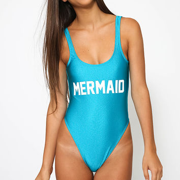 Private Party - Mermaid Swimsuit - Teal