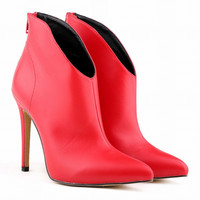 Inferior Smooth Pointed Short Ankle Boots